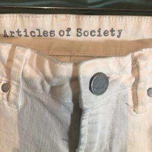 Articles of society white distressed jean